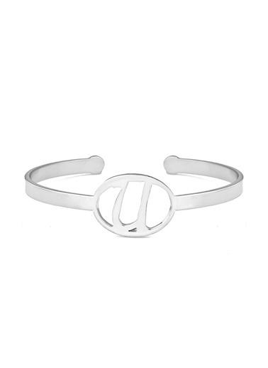 Luis Polo K-Bil 1042 U Motifli Kadın Bileklik Gümüş